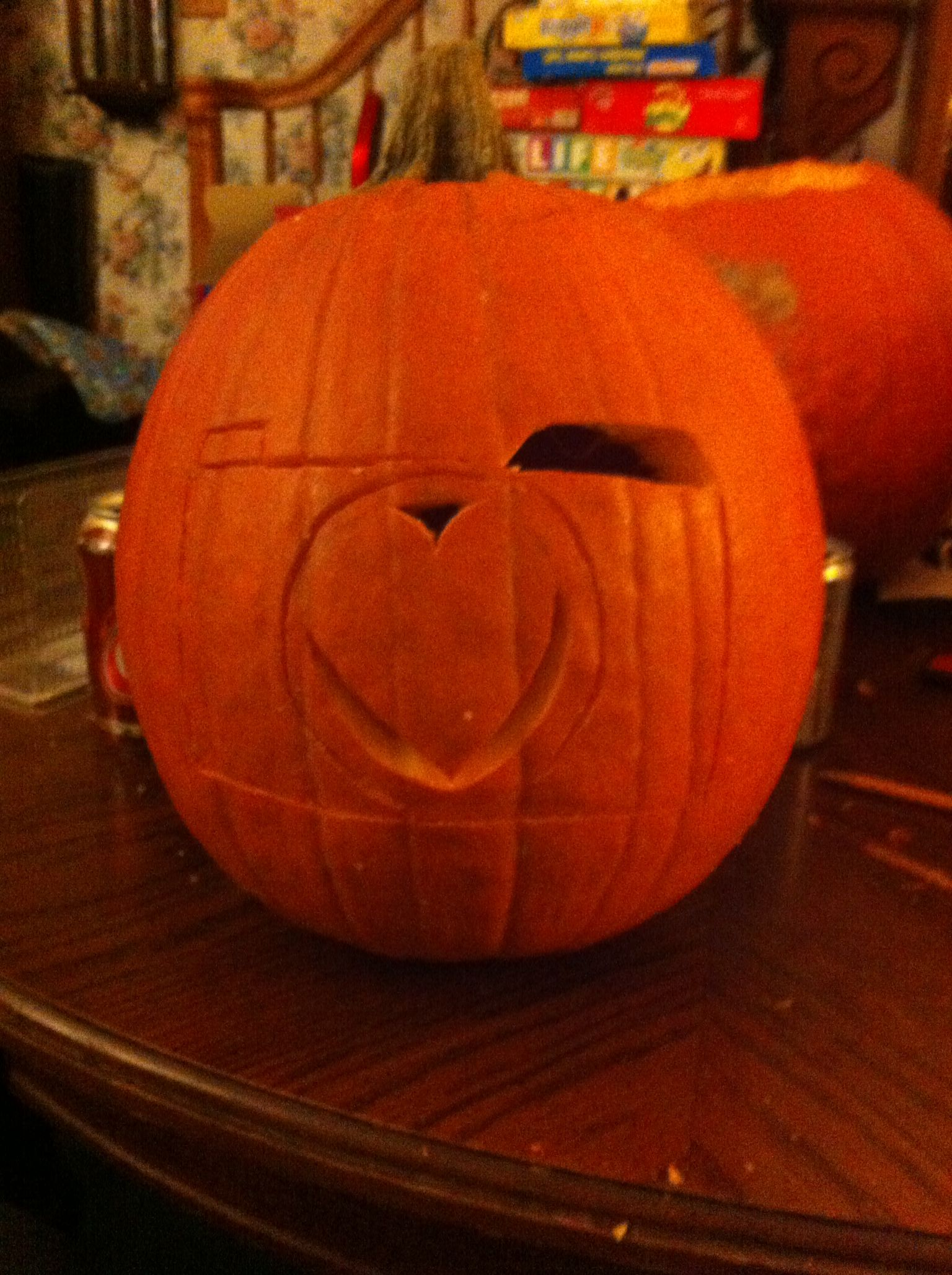 Camera pumpkin carving A very simple camera design carved into a