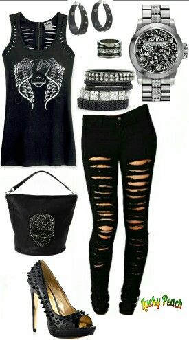 Pin On Harley Davidson Outfits