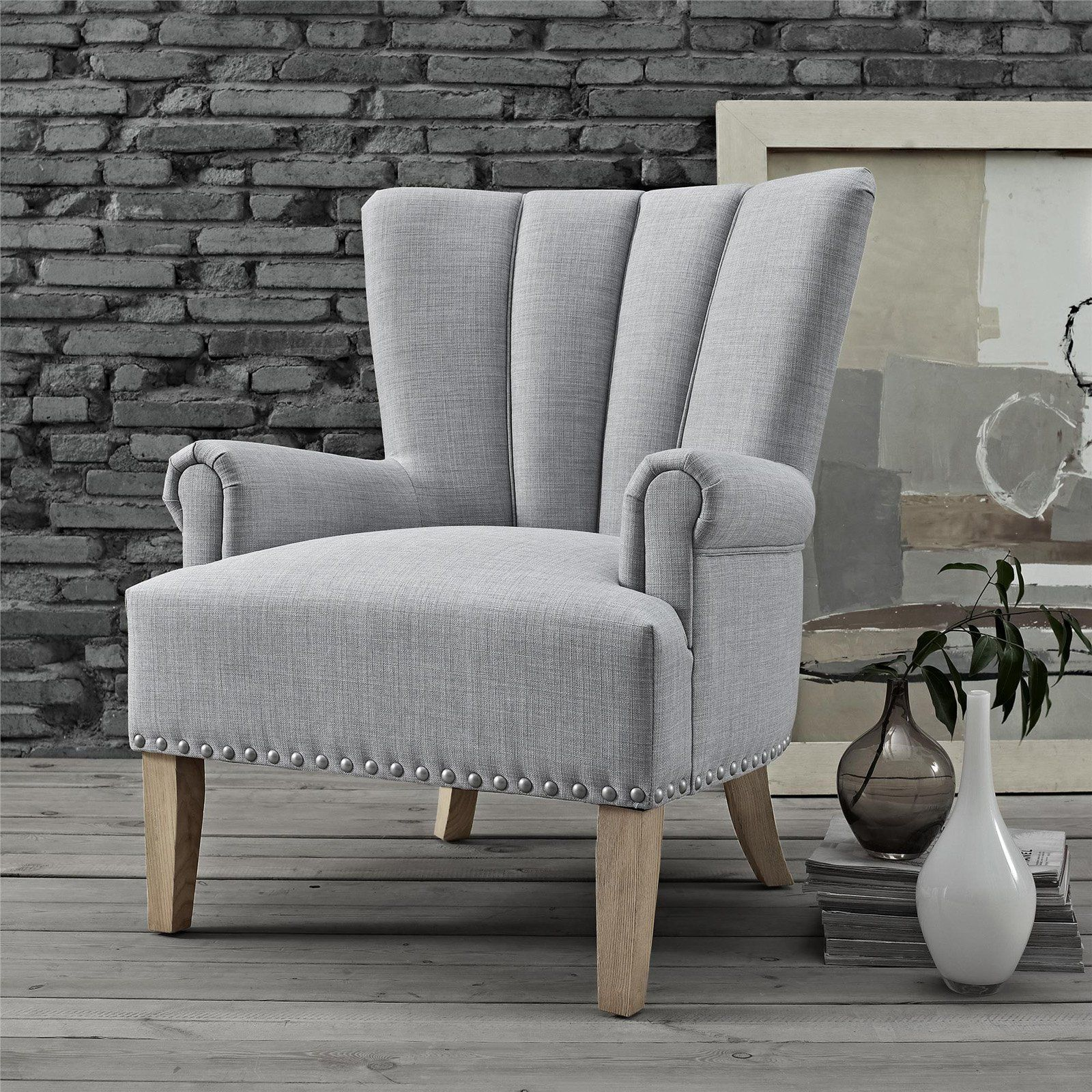 Better Homes Gardens Richmond Accent Chair Gray Living Room