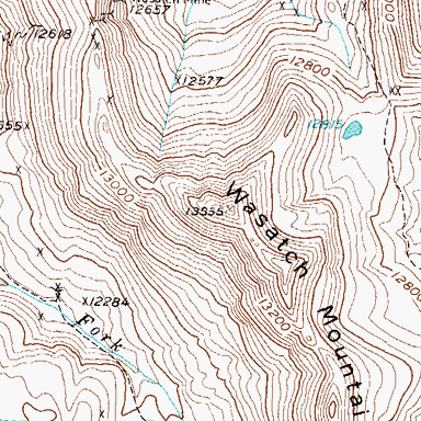Topographic Map of Wasatch Mountain, CO | Tattoos | Art, Map, Tattoos