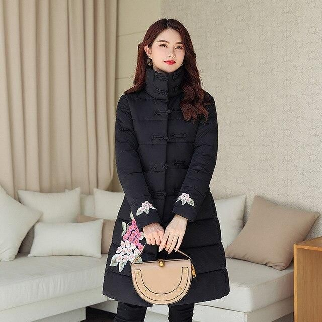 Winter Jacket Female Parka Coat embroidery M 3XL Plus size  Fashion…