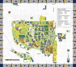 Map Of Georgia Tech Campus.Campus Map Georgia Tech Campus Map Georgia Institute Of