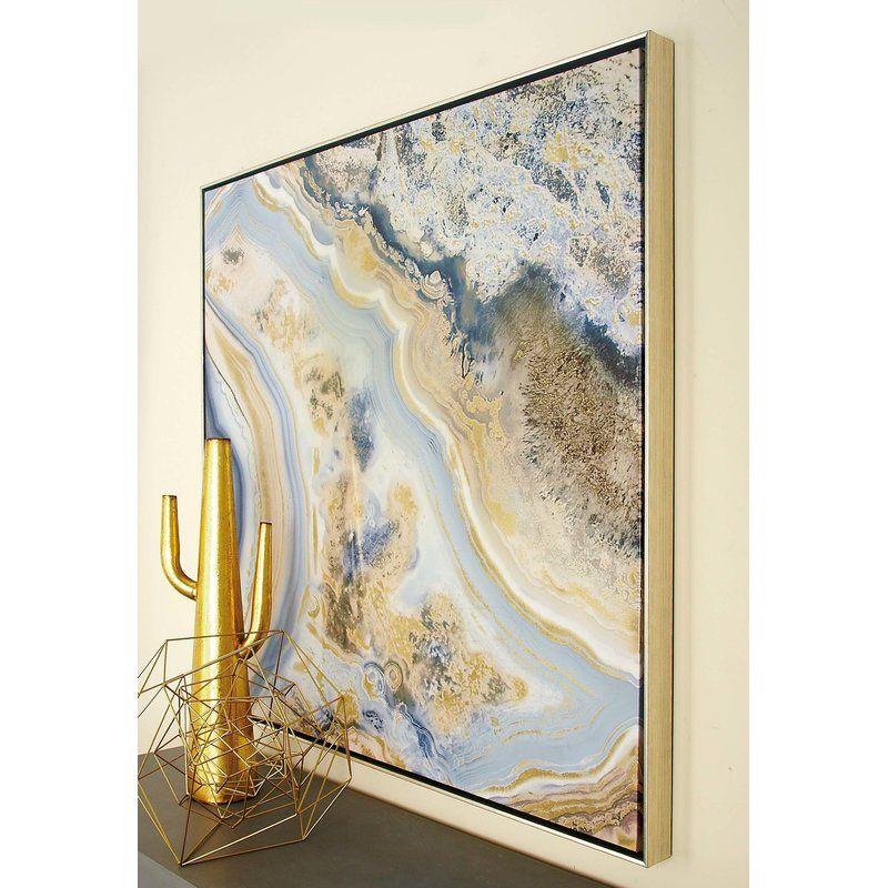 framed graphic art reviews allmodern blue wall art on canvas wall art id=84483