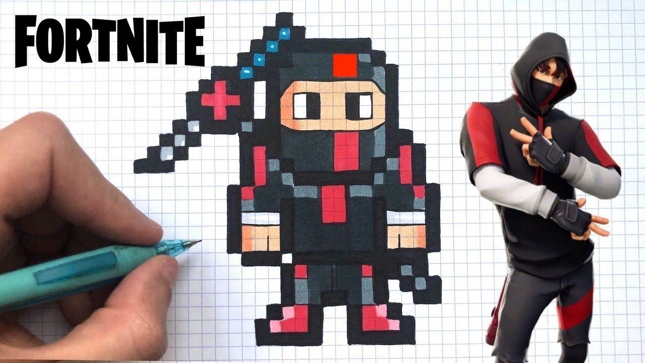 Coloriage Fortnite Skin Facile Como Dibujar Ikonik Skin Pixel Art Fortnite Youtube Di 2020