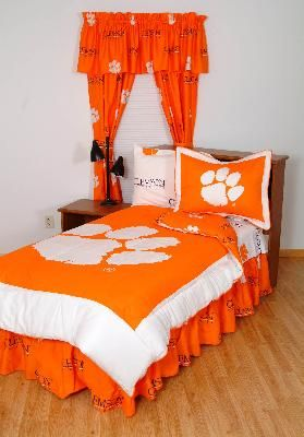 Clemson Tigers Bed In A Bag Set Bedding Clemson Tigers