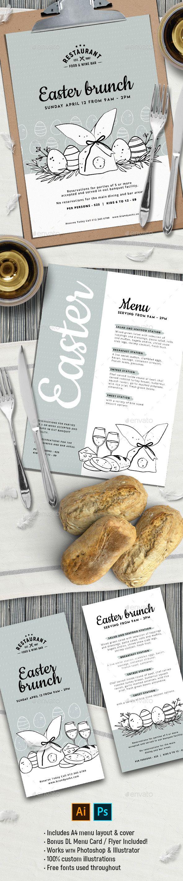easter menu template food menus print templates food