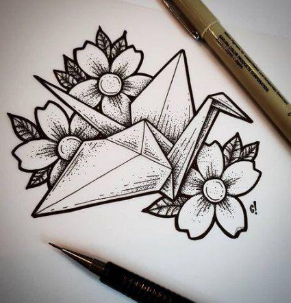 Photo of 30 Ideen Origami Kranich Skizze Tattoo Ideen