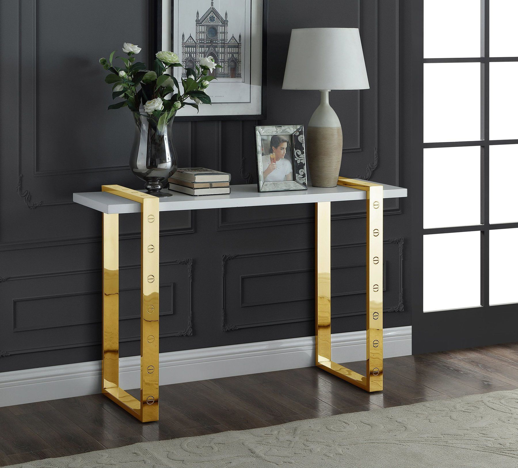 Amore Gold Coffee Table Furniture, Contemporary coffee