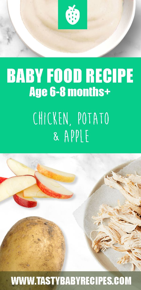 Baby Food Recipe with Chicken, Potato and Apple