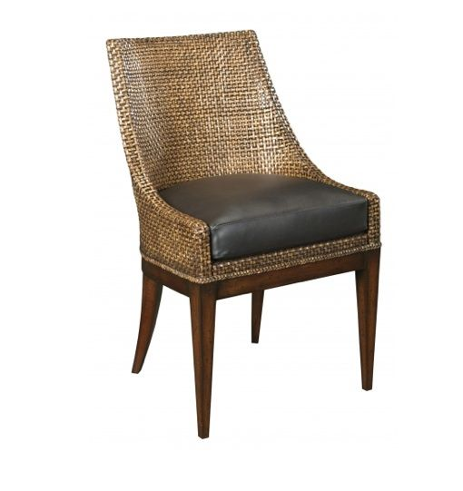 Prime Wfc Woven Leather Chair West Indies Decor Dining Chairs Gmtry Best Dining Table And Chair Ideas Images Gmtryco