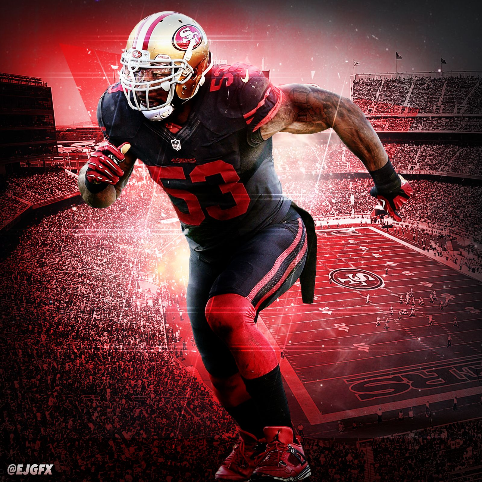 new product 9ad01 fc2b0 Navorro Bowman Wallpaper , San Francisco 49ers #53 | Navorro ...