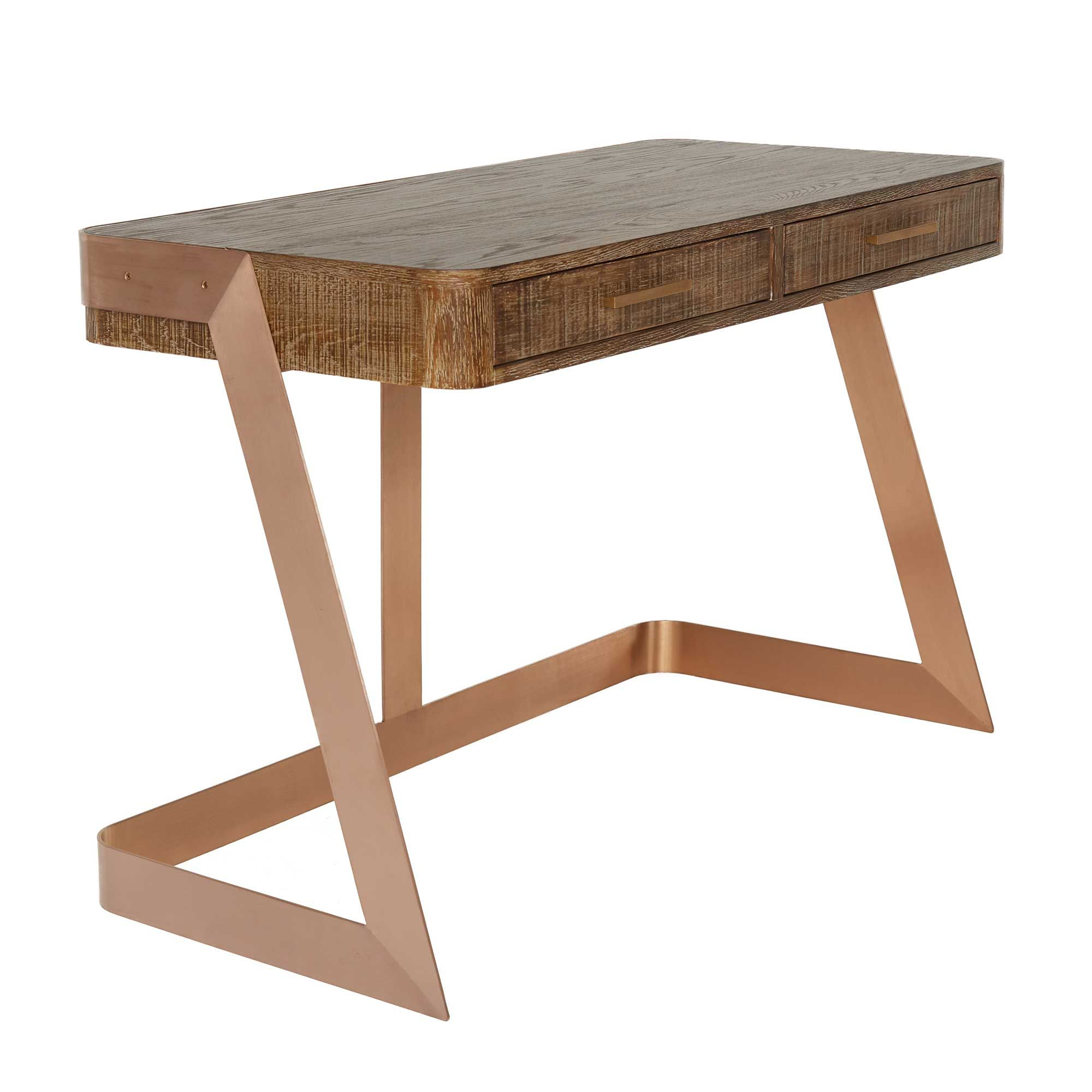 The right working environment requires the right desk, and the Oregon is simply stunning. Tapping into the popular copper trend, its crafted from reclaimed oak and metal with a spacious smooth top for the uttermost practicality.