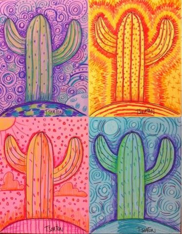 The Lost Sock Hot Day Cool Night Desert Color Art