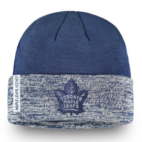 bfde2485a Men s Toronto Maple Leafs Fanatics Branded Blue White Authentic Pro Rinkside  - Cuffed Knit Hat