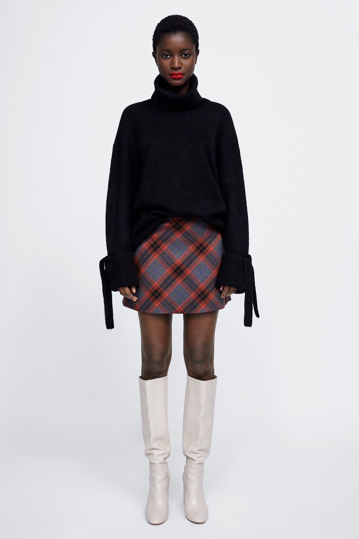 Y Falda Faldas Zara Cuadros Style Cremalleras TxFT80Iwq 392d38267ac3