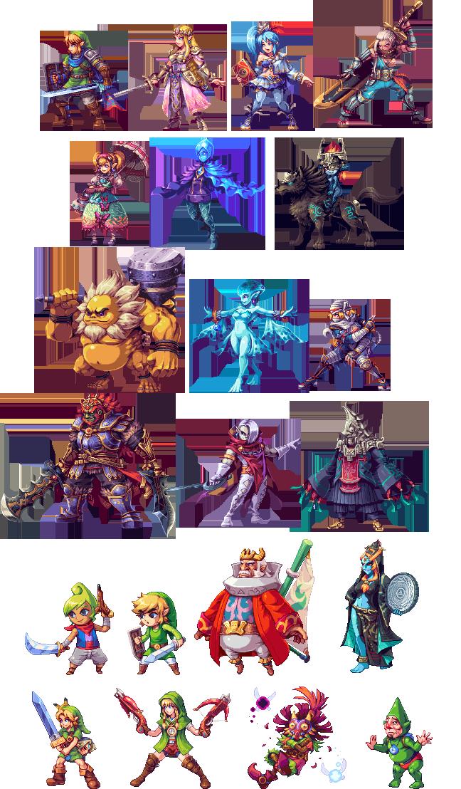 Hyrule Warriors All Stars Zelda Hyrule Warriors Pixel Art Pixel Art Games