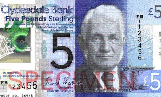 Clydesdale Bank Issues Britain S First Plastic Banknotes Con