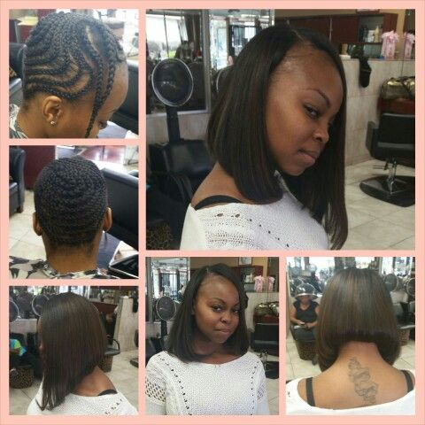 Full weave with a Bob cut.... by yours truly~HAIR DIVA