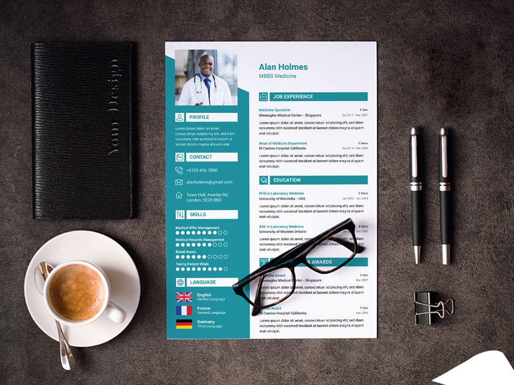 Doctor Resume Template Resume template, Best free resume