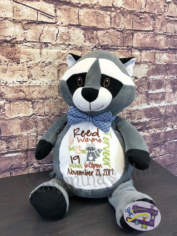 Custom raccoon gift adoption gift personalized raccoon baby items custom raccoon gift adoption gift personalized raccoon negle Choice Image
