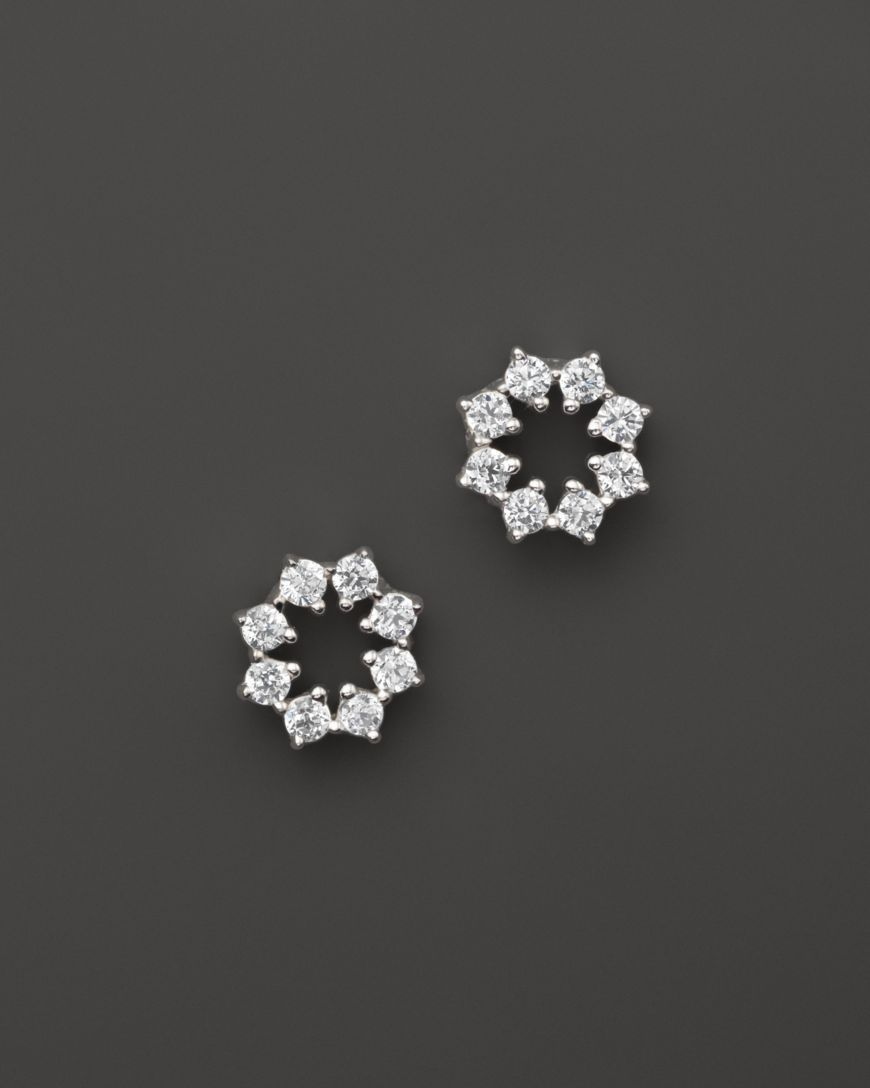 Small Diamond Stud Earrings In 14k White Gold 14 Ct T W 100 Exclusive