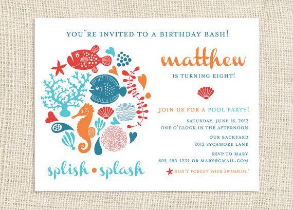 Under the Sea Birthday Party Invitations by jackandjanepaper 2700