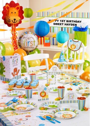 1st Bday party theme Lets Party Pinterest Birthdays