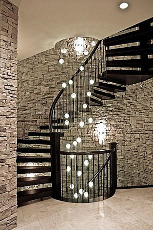 Lovely This Would Be Awesome If This Spiral Staircase Went To The Basement And The  Basement Had This Stone Wall.