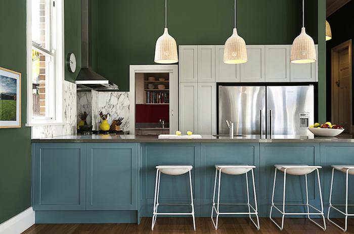 moderne küchen designen selber einrichten schöne ideen weiße lampen ...