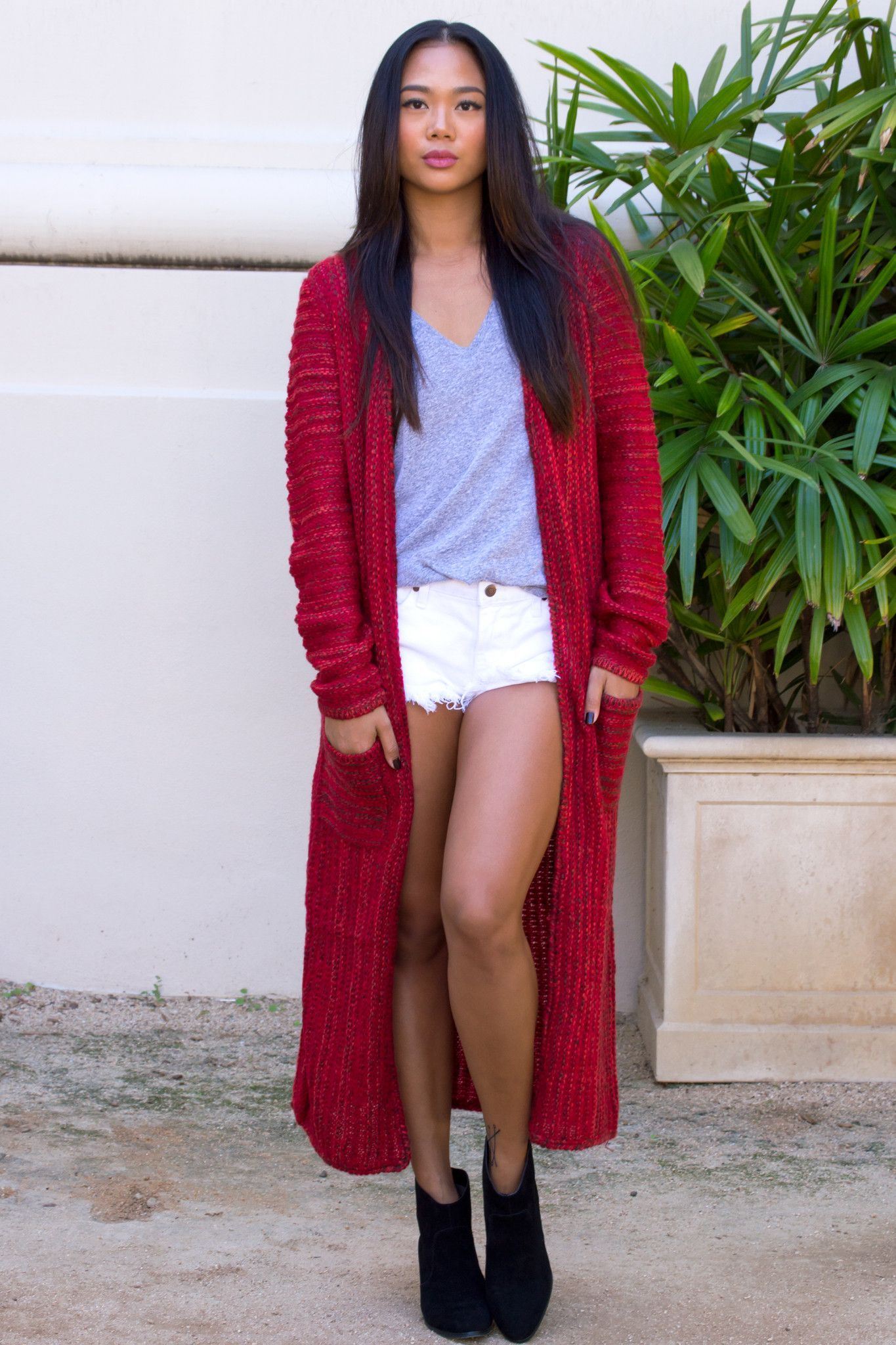 Alexi Red Knit Duster Cardigan | My style | Pinterest | Dusters ...