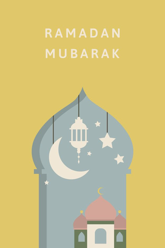 Download Ramadan Mubarak Card Design For Free In 2020 Mosque