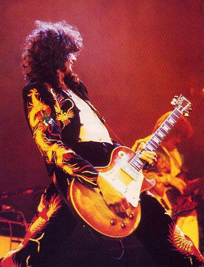 Jimmy Page Of Led Zeppelin Rocking Out Live With His Awesome Gibson Guitar