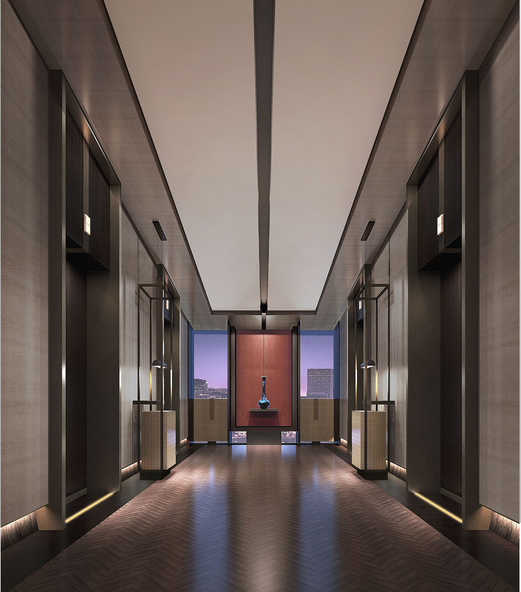 Lobby Interior Design: Fly Fish Ɣ�藏于 Ņ�共区域