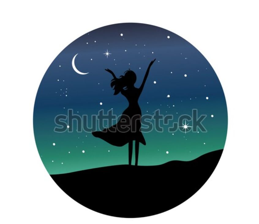 This Picture Sparked The Idea Of A Silhouette Logo Between The Colors And The Uplifted Hands That Could Be Open Welcoming A In 2020 Hand Silhouette Starry Night Starry