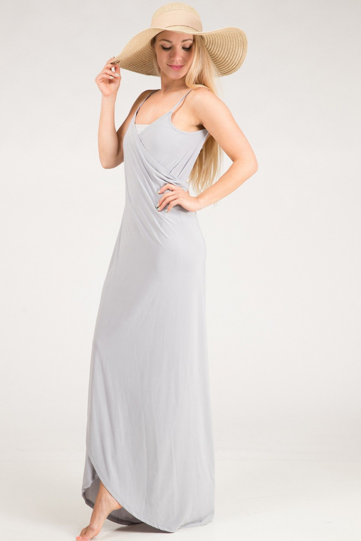Silver Cover Up Maxi Dress | Dresses | Pinterest