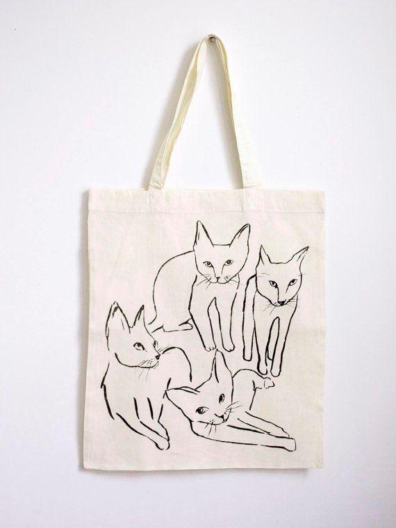 cats tote - leah goren
