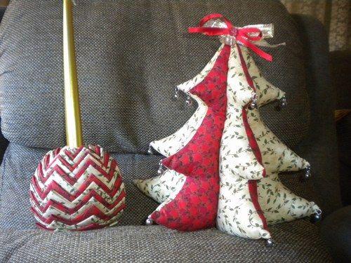 Mis labores de patchwork labores bolitas y lbum - Bolas arbol navidad manualidades ...