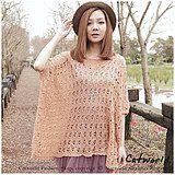 | CATWORLD | Crochet Bat Sleeves Knit Top