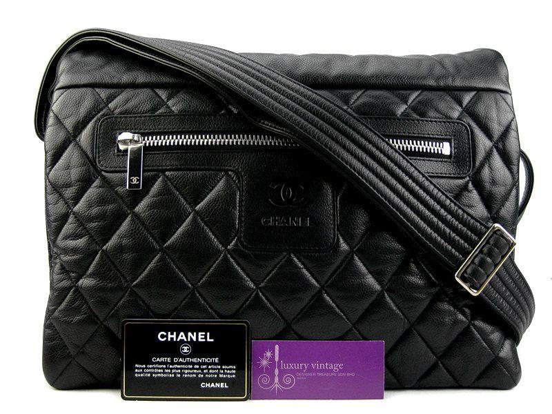 37370b52ad4c CHANEL Cocoon Messenger Bag Black Color Caviar Very Good Condition  Ref-YLTC-4 🏠