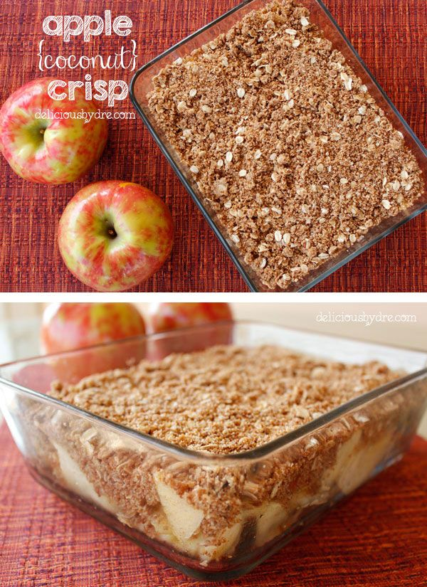 Holiday apple crisp recipe! Uses healthy coconut flour, coconut