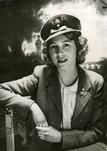18+ A beautiful picture of the teenaged future Queen of England, Princess Elizabeth wearing her ATS uniform in WWII 1942