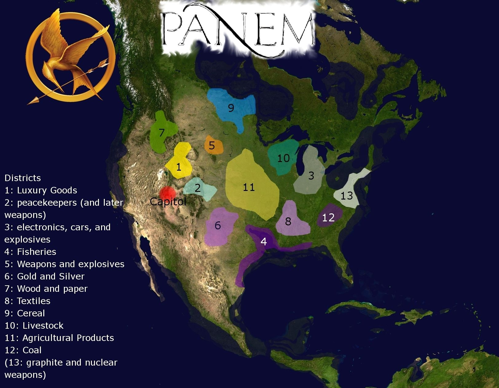 Map Of Panem By Suzanne Collins | The Hunger Games by ...