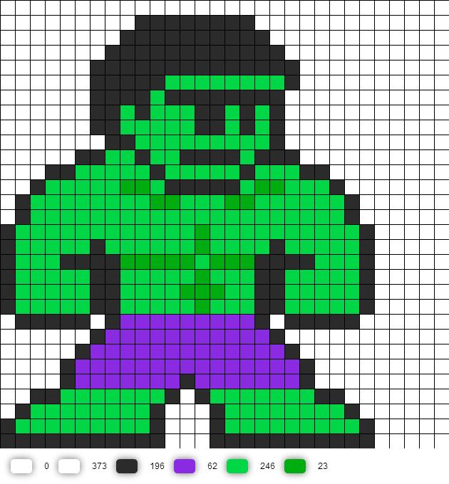pixel art hulk