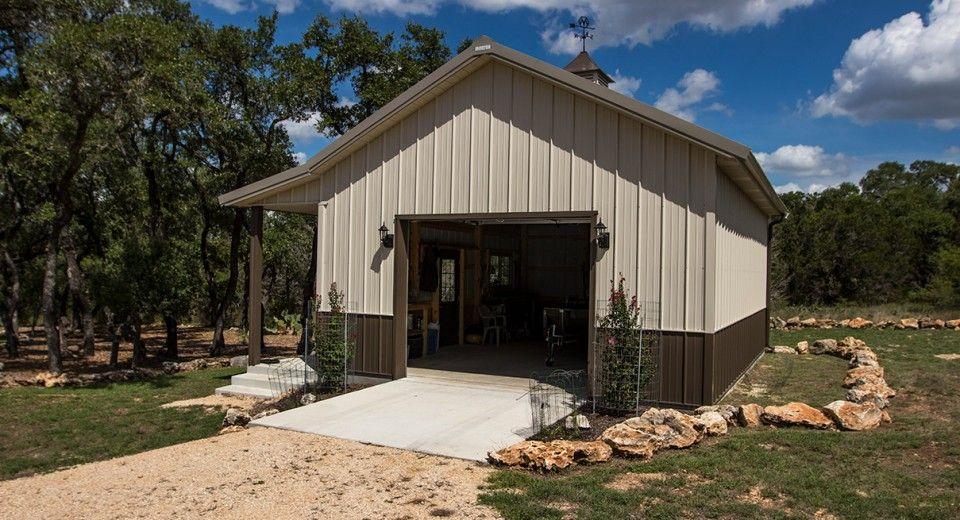 Morton Buildings Garage In New Braunfels Texas Metal Buildings