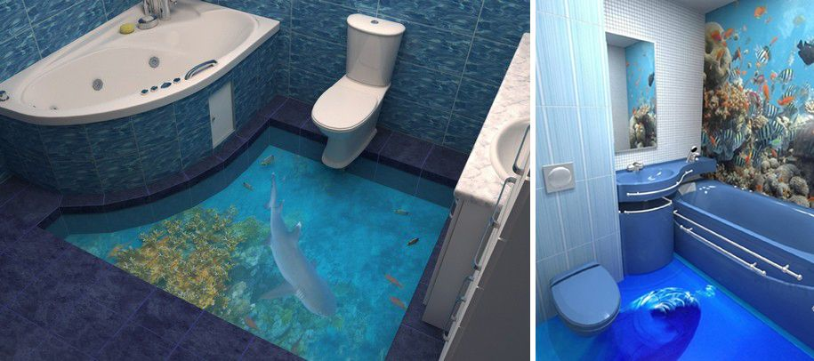 3d Floors That Will Bring An Ocean Into Your Home Badezimmerboden