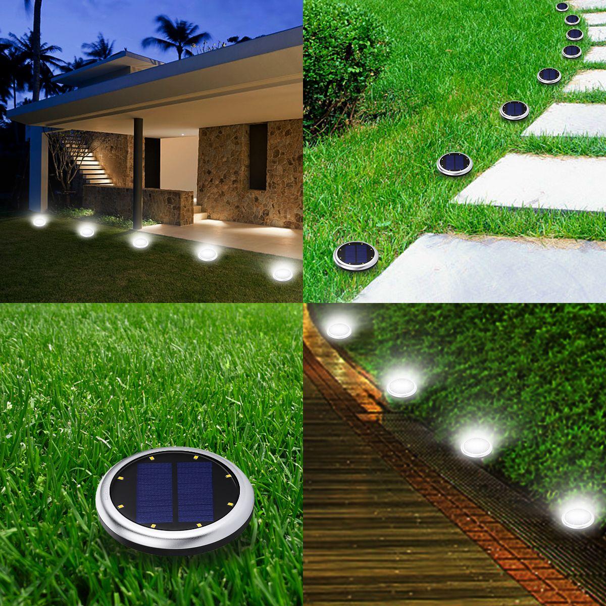 2Pcs LED Lamp Solar Powered Spot Light Outdoor Garden Lawn Landscape Waterproof