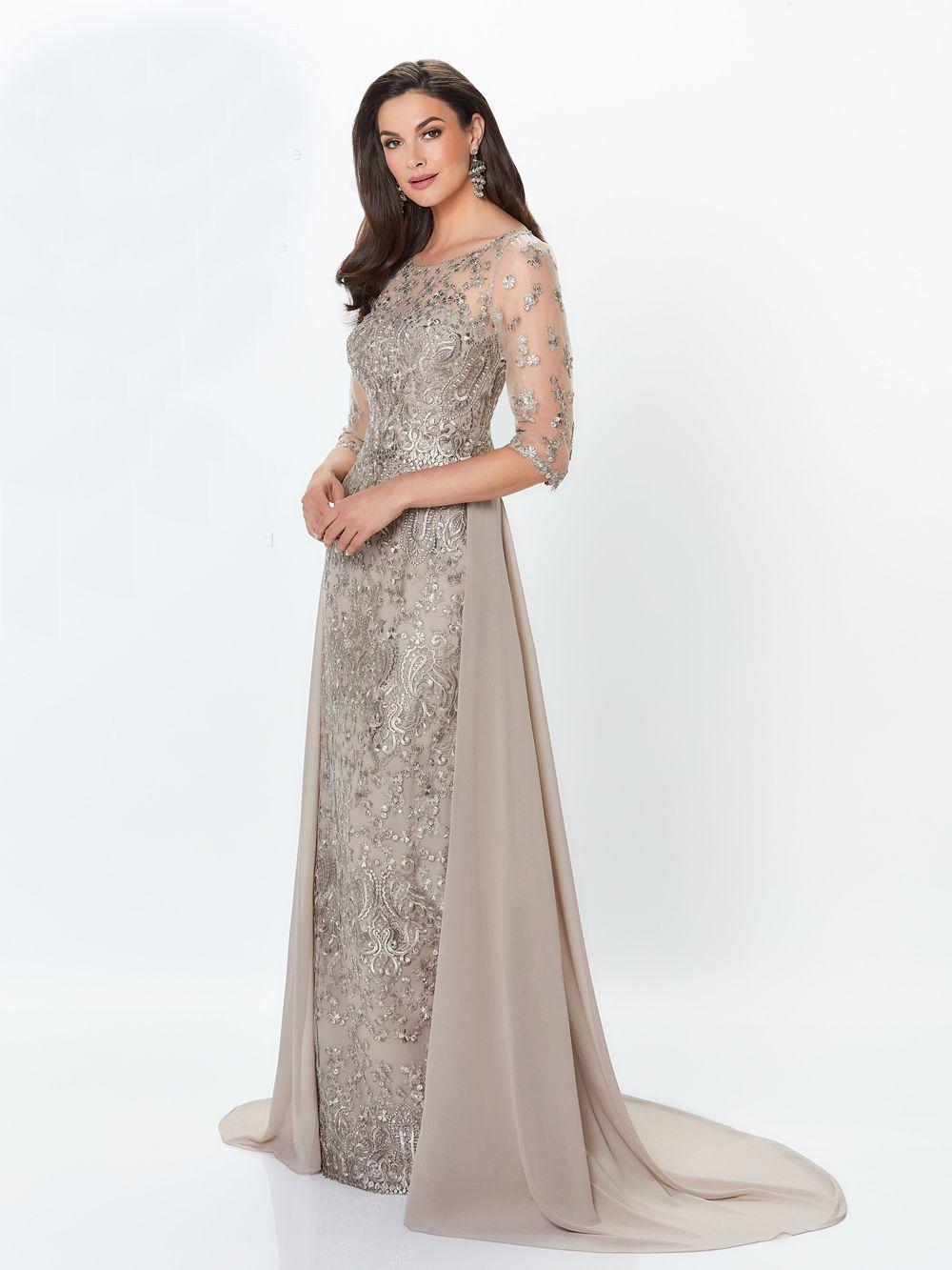 Montage by Mon Cheri 119940 Detachable Train Evening Gown