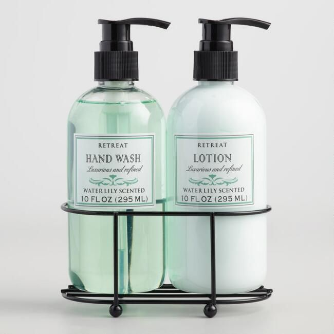 Retreat Water Lily Liquid Soap And Lotion Caddy World