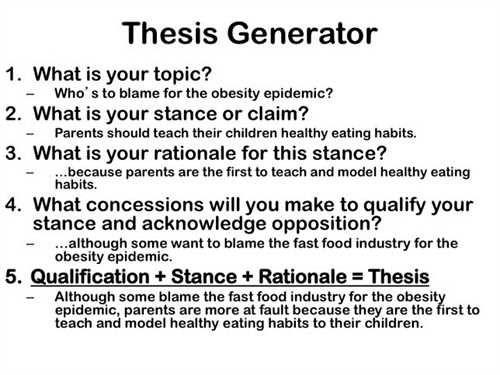 Thesis Generator Formula Writing A Thesis Statement Thesis Writing Essay Writing Skills