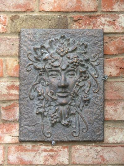 Grape Man Wall Plaque Gardensite Co Uk Wall Garden Garden Plaques Garden Ornaments